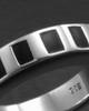 Men's White Gold Efficient Cremation Ring