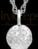 Golf Tee White Gold Urn Jewelry