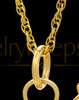 Golf Clubs 14K Gold Memorial Jewelry