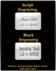 Bulleted Black Memorial Keychain