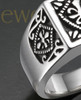 Silver Royalty Cremation Ring