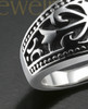 Ladies Queen Silver Cremation Ring