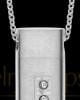Men's Endure Stainless Cylinder Cremation Pendant
