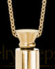 Gold Miracle Men's Cylinder Cremation Jewelry