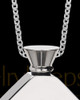 Steel Men's Beloved Diamond Cremation Pendant