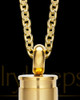 Men's Gold Bulleted Stainless Keepsake Jewelry