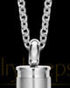 Men's Silver Bulleted Cremation Pendant
