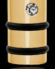 Men's Gold Plated Determination Cylinder Jewelry Urn