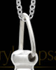 Men's Grand Silver Plated Cylinder Keepsake Pendant