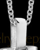 Silver Men's Noble Cylinder Cremation Jewelry