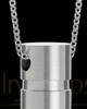 Stainless Men's Stacked Cylinder Cremation Jewelry