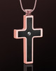 Stainless Rose Gold with Black Jewelry Urn Truthful Cross
