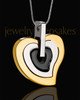Urn Locket Gold Plated Gracious Heart
