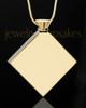 Stainless Gold Plated Beloved Diamond Cremation Keepsake