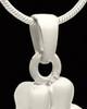 Cremation Locket Solid 14K White Gold Companion