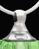 Memorial Jewelry Green Darling Glass Locket