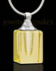 Memorial Jewelry Yellow Darling Glass Locket