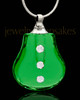 Pendant Keepsake Green Sprinkle Glass Locket