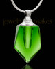 Cremation Keepsake Green Devoted Glass Locket