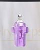 Lavender Faithful Cross Glass Reflection Pendant
