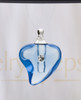 Blue Shapely Heart Glass Reflection Pendant