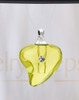 Golden Shapely Heart Glass Reflection Pendant