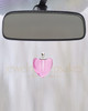 Pink Pristine Heart Glass Reflection Pendant