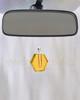 Yellow Honesty Glass Reflection Pendant