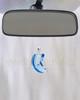 Blue Crescent Glass Reflection Pendant