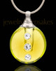 Funeral Jewelry Golden Security Glass Locket