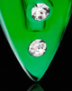 Locket Jewelry Green Joyful Glass Locket