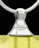 Ash Pendant Golden Shapely Heart Glass Locket