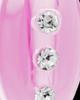Pink Mystic Glass Teardrop Pendant