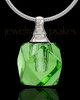 Urn Necklace Green Cubes Glass Locket