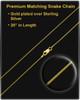 Cremation Necklace Gold Vermeil Four Leaf Clover