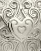Memorial Pendant 14K White Gold Love Filigree Heart
