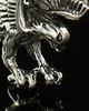 Ash Urn Locket 14K White Gold Diving Eagle