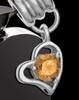 Stainless Steel November Enamored Heart Cremation Keepsake