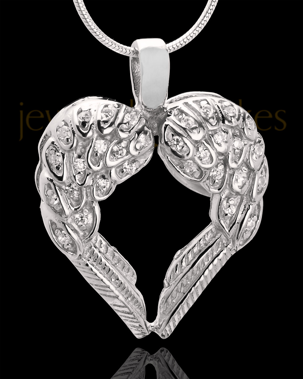 q pendants wing sterling personalised necklace silver pendant angel winged heart original necklaces