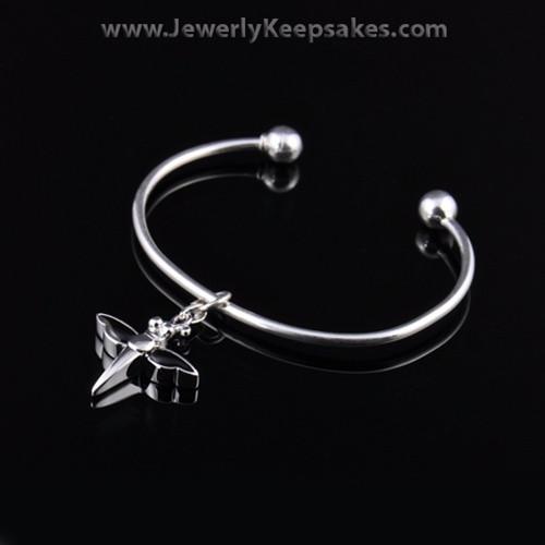 Remembrance Jewelry Bracelet Sterling Silver Black Dragonfly