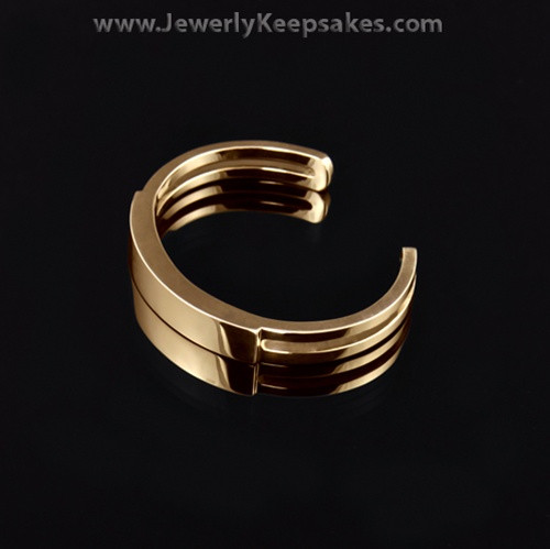 Remembrance Bracelet Stainless Gold Plated Men's Sliding Cuff