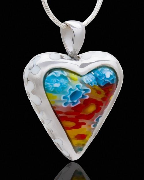 Memorial Jewelry Sterling Silver Lavish Heart Keepsake