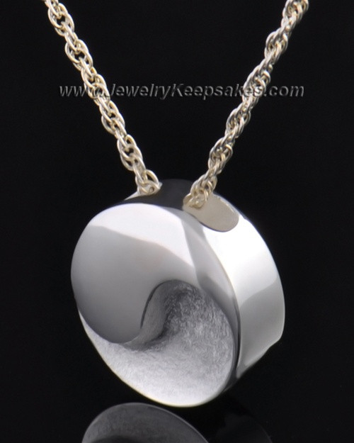 Sterling Silver Paired Round Urn Pendant