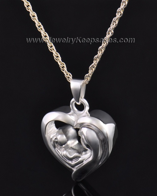 Sterling Silver Bond of Love Heart Cremation Keepsake