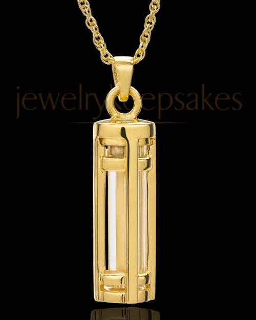14k Gold Hold Me Close Cylinder Keepsake