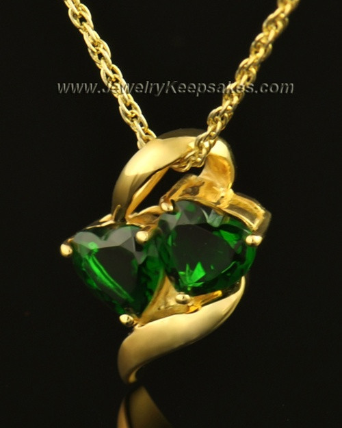 14k Gold Envious Cremation Necklace