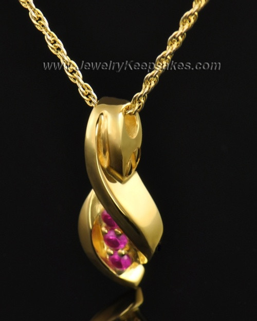 Gold Plated Soft Spoken Cremation Necklace