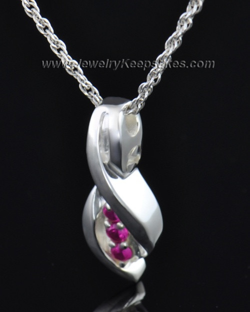 Sterling Silver Soft Spoken Cremation Necklace