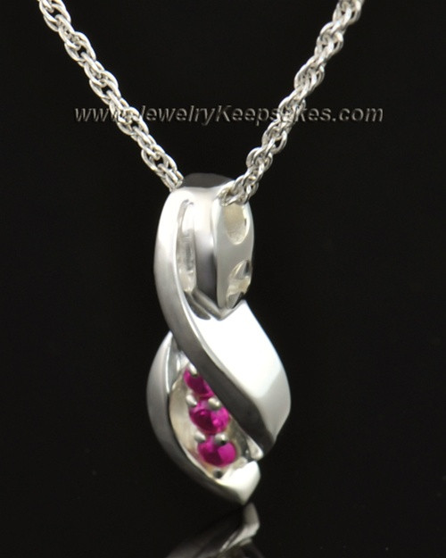 14k White Gold Soft Spoken Cremation Necklace