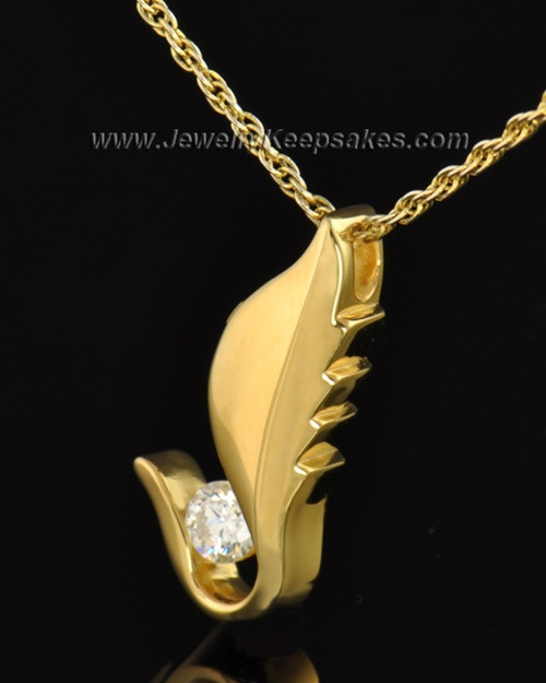 Gold Plated Flutter of Memories Cremation Necklace